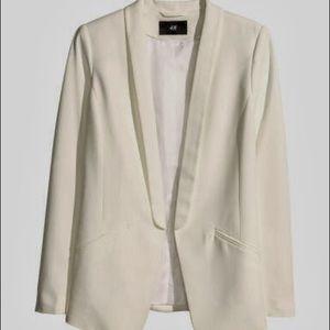 H&M Cream Tuxedo Jacket